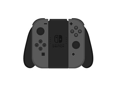 Joy-Con Grip Controller vector art vector controller grip joy-con switch nintendo