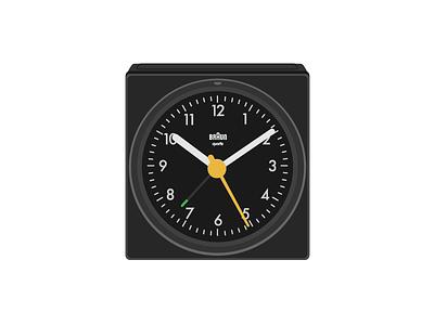 Braun AB1 vector art vector dieter rams 80s clock alarm ab1 1987 braun