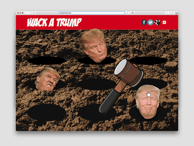 Wack-A-Trump political ui bad ui friday ui ui design