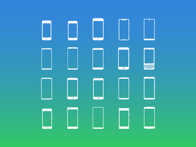 Smartphone Icons ux ui flat vector icons android ios google apple icon smartphones phones