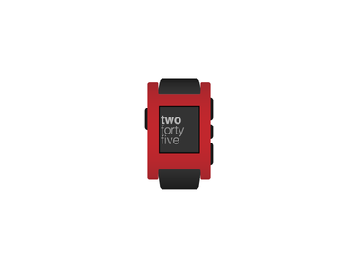 Pebble Smartwatch wearable illustration flat vector art vector smartwatch watch pebble