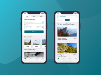Hike - Concept app design for hikers
