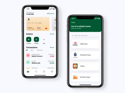 Fintech app concept