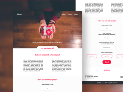 Gifted - Concept website for donating gifts