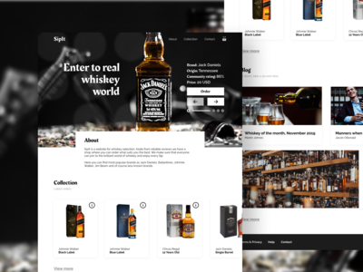 SipIt - Concept website for whiskey enthusiasts