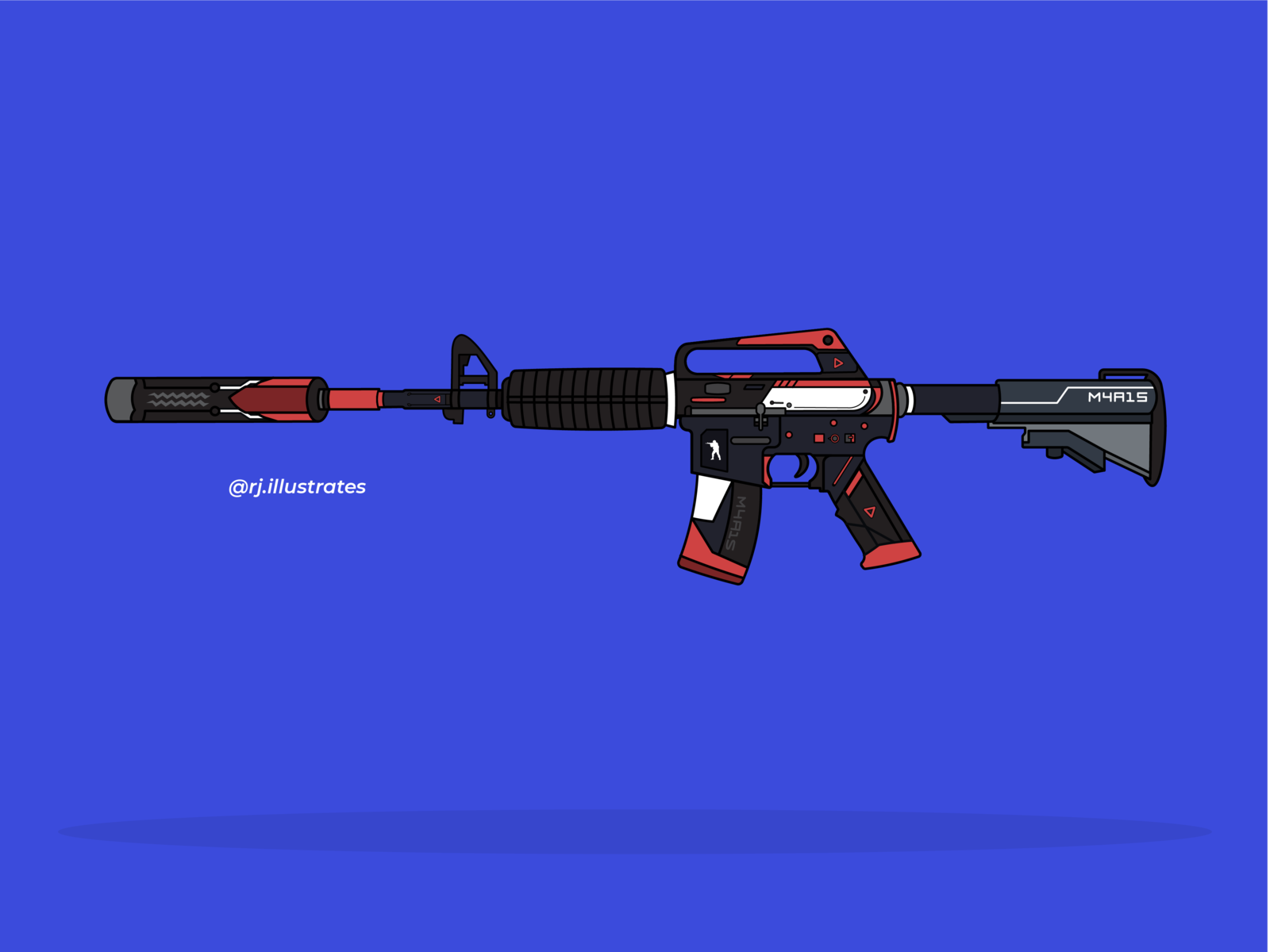 M4a1 S Cyrex By Ronak Jadhavrao On Dribbble
