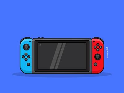 Nintendo switch illustration gamer gamingart gaming nintendoswitch vectorillustration vectorart flatdesigns artwork art vector illustration graphicdesign flatdesign designer adobe illustrator vector illustration flat drawing design