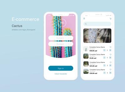 Cactus app e-commerce