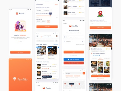 #Redesign Foodiles App clean ui design inspiration redesign ux design mobile app design app mobile ui mobile design awesome design ui ui design uiux