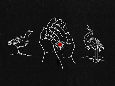 Nene, Hands, and Crane procreate illustration