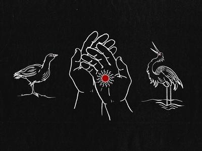 Nene, Hands, and Crane