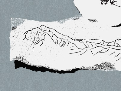 Hanalei Bay procreate illustration