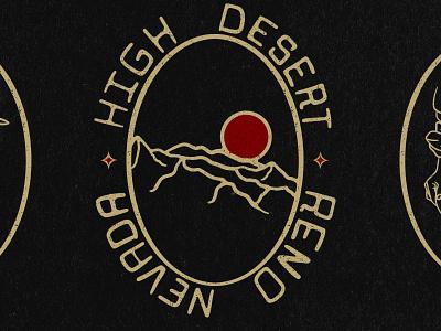 High Desert - Mountain Bluebird, Sierras and Miner reno nevada procreate illustration