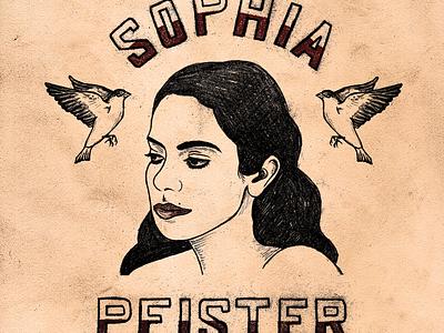 Sophia Pfister Album Art album cover album art portrait lettering hand lettering typography illustration art illustration illustrator digital illustration