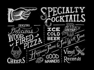 The Love Song Bar Mural vintage badge vintage font vintage design vintage chalk lettering chalkboard chalk art rendering mural design muralist muralart murals mural hand lettering lettering illustrator illustration