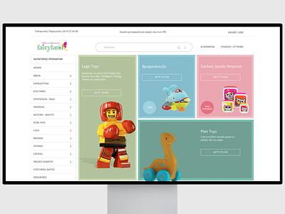 Fairyland Kids Multibook Store ecommerce site Design