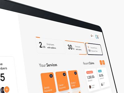 Coverflex Dashboard UX/UI desktop mobile prototype dashboard