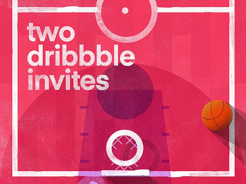 Two Dribbble Invites dribbble invites