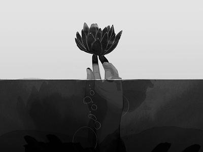 illustration #3 artwork flower hand photoshop ink art illustration