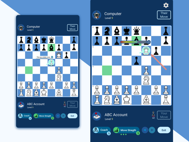 Chess game mockup