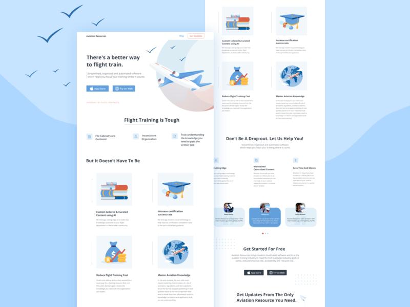 Website - Aviation Resources website website design web design webdesign illustration ui branding product design design
