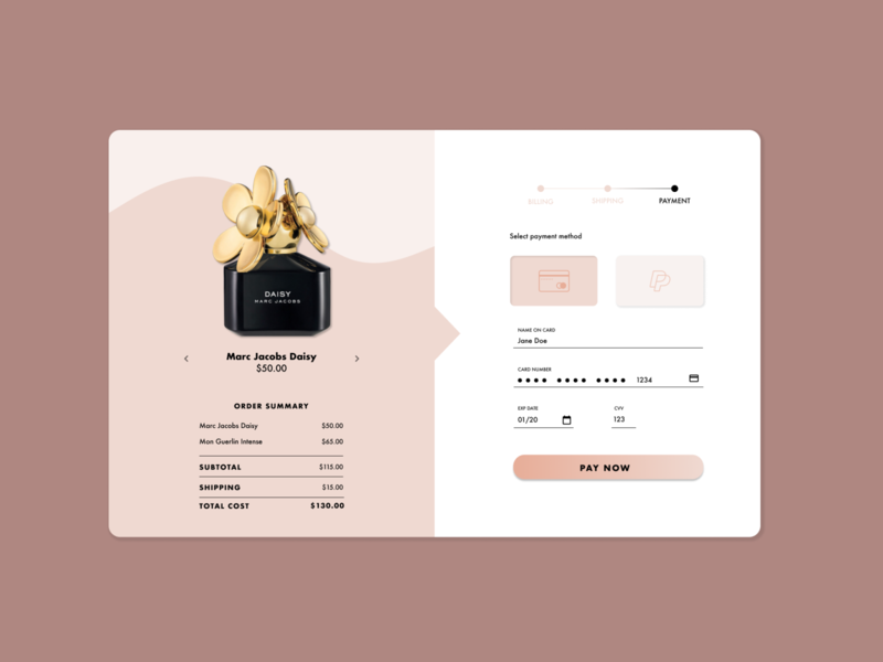 DailyUI 002 // Credit Card Checkout fashion prototype mockup ui figma webdesign design dailyui002 dailyui