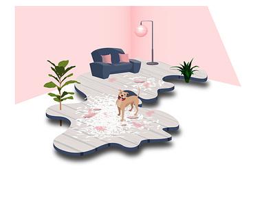 pillow exploded animalart dogart vectordesign vectorartist vectorart illutrator adobeillustration illutration