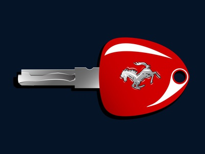 Ferrari key illustration