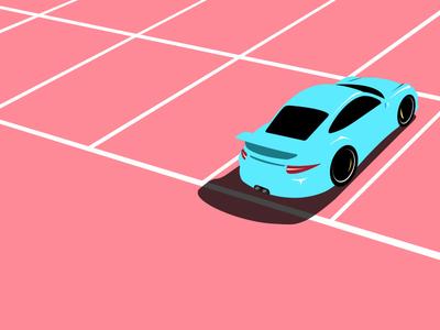 Porsche 911 GT3 parking lot