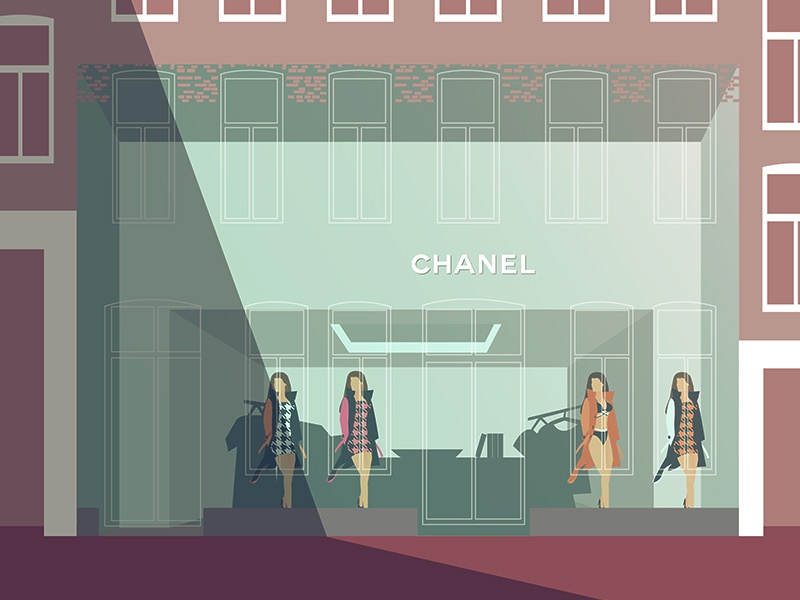 New full glass Chanel storefront Amsterdam amsterdam hooftstraat pc storefront chanel glass