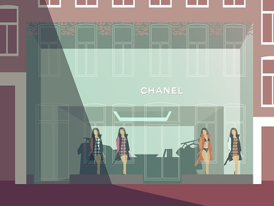New full glass Chanel storefront Amsterdam amsterdam hooftstraat pc storefront chanel glass