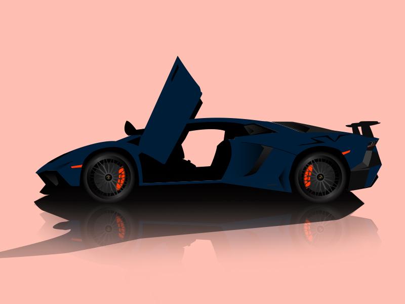 Lamborghini Aventador Sv Vector Illustration By Andrew Chin