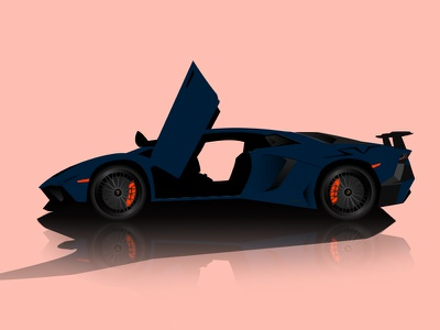Lamborghini Aventador SV vector Illustration illustration vector sv aventador lamborghini