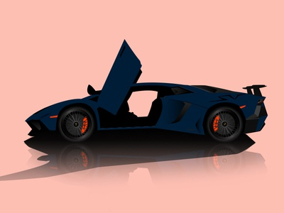 Lamborghini Aventador SV vector Illustration