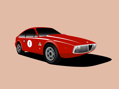 Alfa Romeo Junior Zagato 1300 Illustration junior zagato alfa romeo illustration 1300