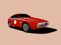 Alfa Romeo Junior Zagato 1300 Illustration