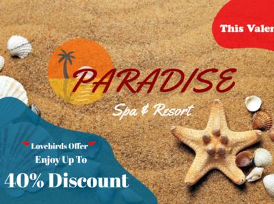 Valentine Discount- Beach Ad design