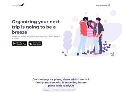 ReadyGo webApp Landing page
