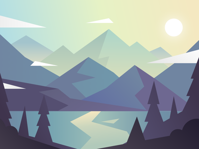 lumine gradient detail blue illustration landscape minimal graphic design color vector design