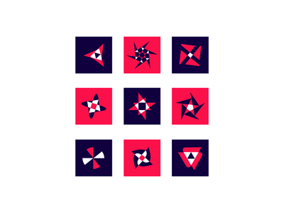 geometric logos blue geometric logo minimal graphic design color vector design