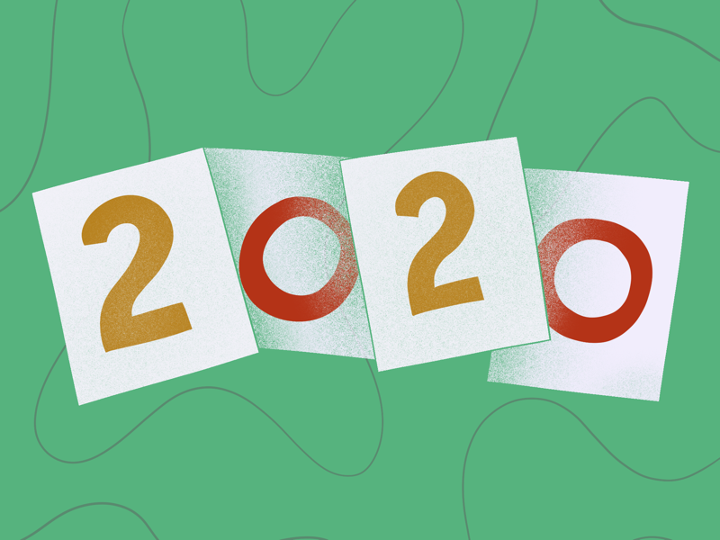 what's your 2020 vision? shading curves lines procreate illustration 2020 design