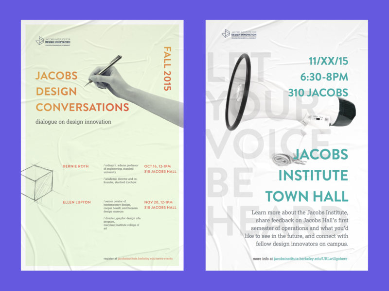 communications collateral for UC Berkeley Jacobs Design School