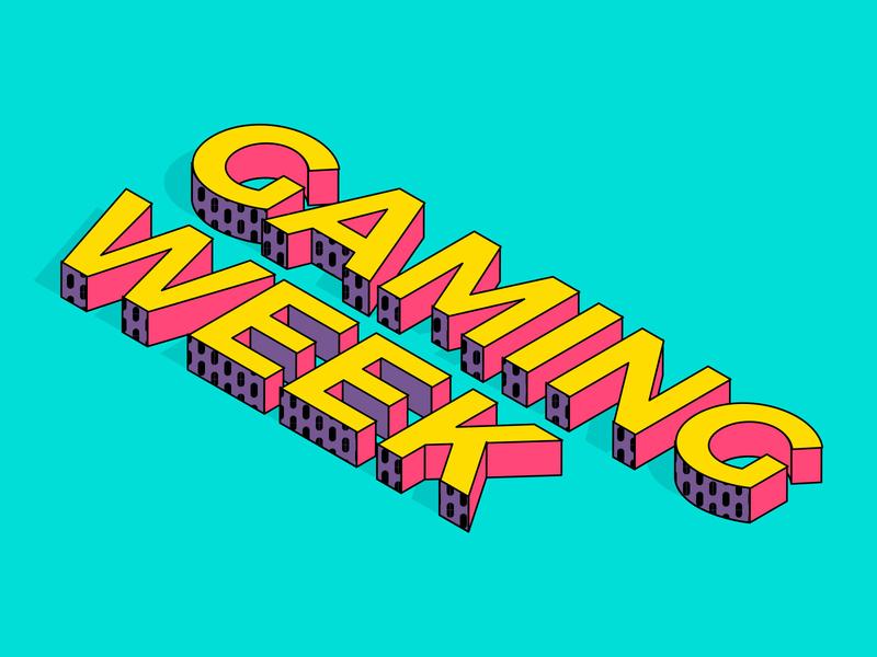 Gaming Week Isometric Type