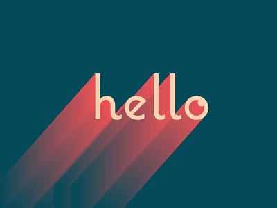 hello type design typography gradient longshadow hello type
