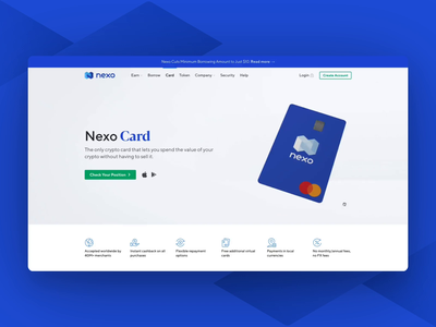 Crypto Card threejs blender3d 3d model blockchain landing page payment card crypto cards cryptocurrency crypto wallet crypto front-end blender 3d card animation