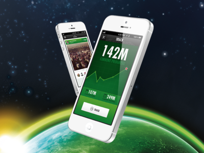 80KM Mobile App application ios iphone track photo statistic stats graphics charts space austronaut android