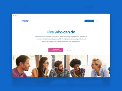 Majio - Home landing home jobs big data data dashboard hr careers ai majio