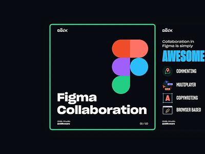 Figma Collaboration instagram stories figmadesign oblik illustration typography dark animation freebie designtips instagram carousel collaboration figma