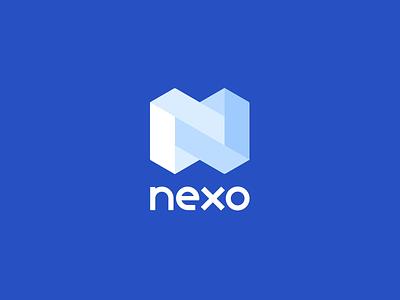 Nexo Logotype animation logotypes typography logo lending deposit loan logotype product design blockchain crypto nexo