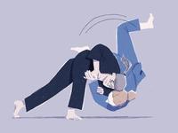 Ju jitsu 4 ju jitsu illustrator combat character design character portrait procreate ipad drawing illustration